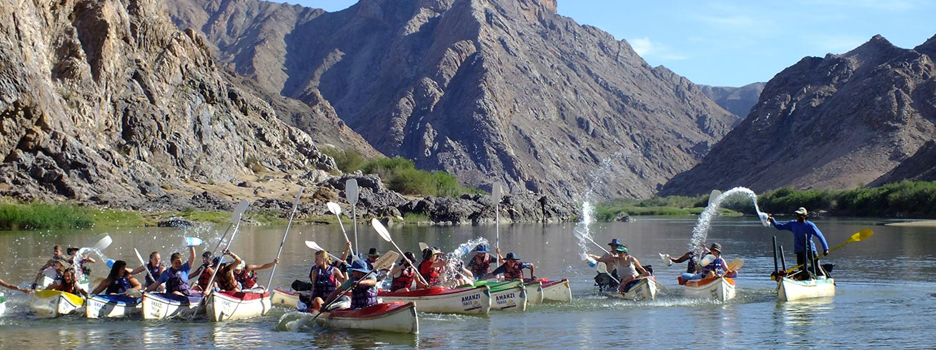 Amanzi Trails: Canoeing on the Orange River
