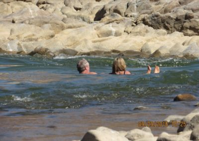 Floating on the rapids – Keith and Suzanne