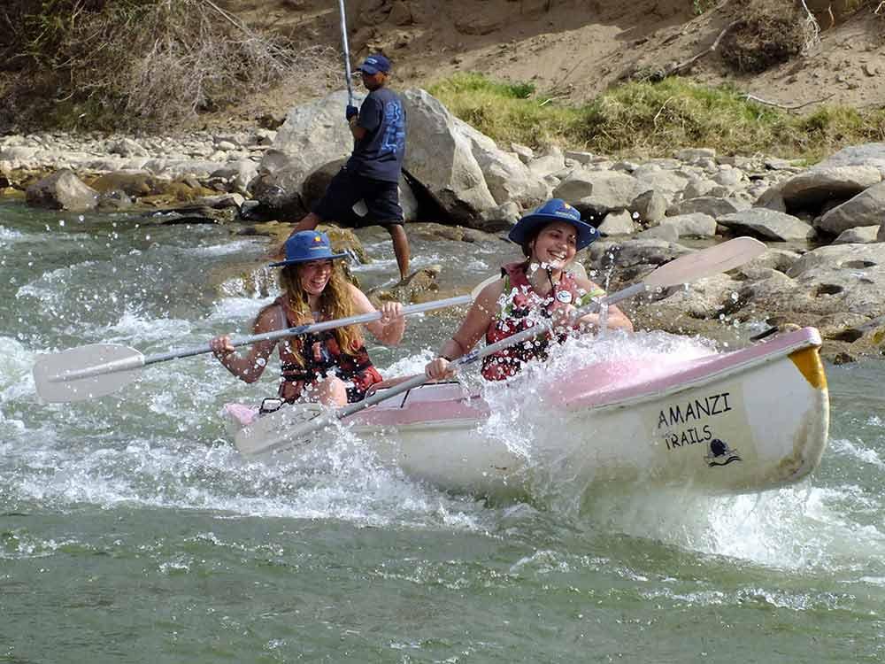 Challenging rapids