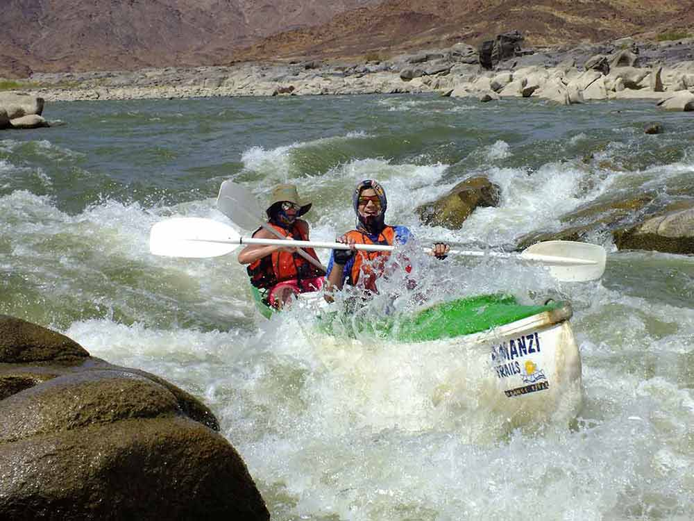 Toughing out the orange river rapids